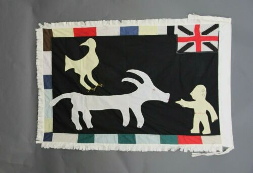 Asafo Flag,Frankaa Military Flag Fante /Fanti Ghana,Applique,Textile Art,Drapeau