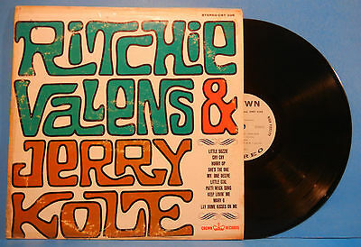 Ritchie Valens And Jerry Kole  Lp 1963 Stereo Original Press Nice Cond  Vg Vg