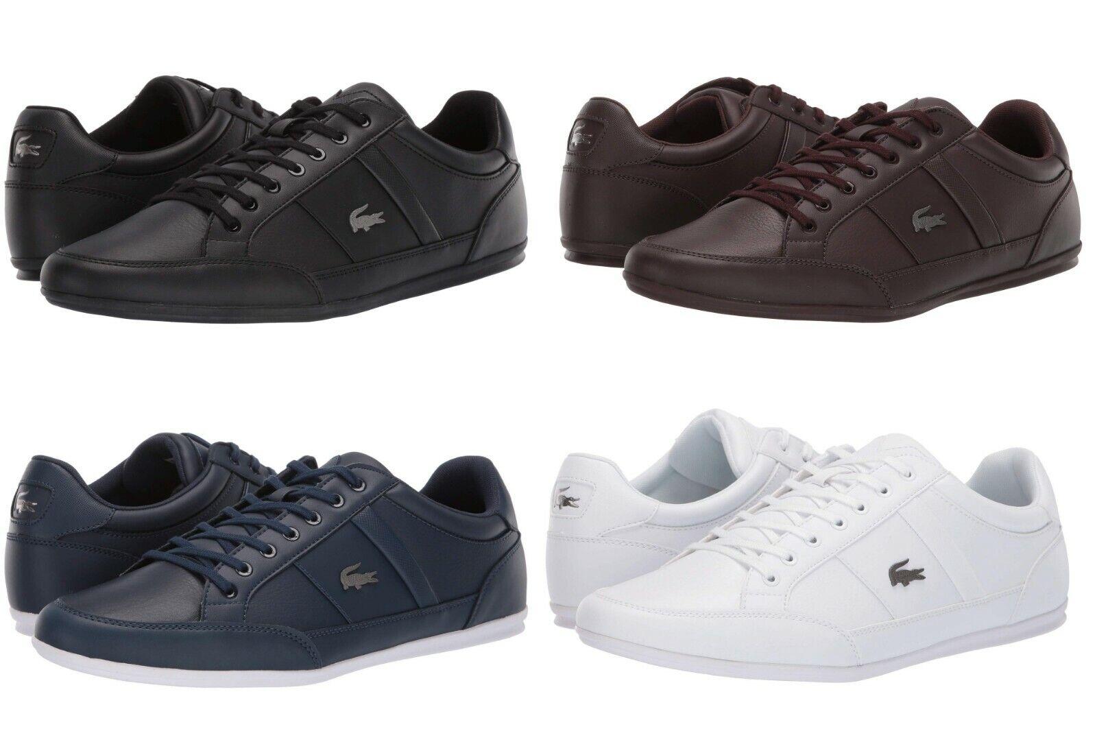 Lacoste Chaymon BL Men's Casual Croc Logo Shoes Sneakers Black Brown Navy White