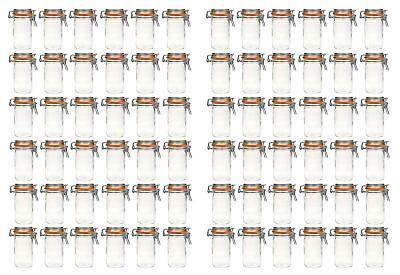 72x Cristal de la Abrazadera Alambre 250ml Tarro Conservas Frascos Conservas.