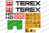 Terex Hd1000 Adesivi Decalcomanie Dumper Avvertimento E Verde Cruscotto - electrolux rex - ebay.it