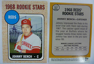 2006 Topps Rookie Of Week 16 Johnny Bench 1968 Style Card Lot Of 20