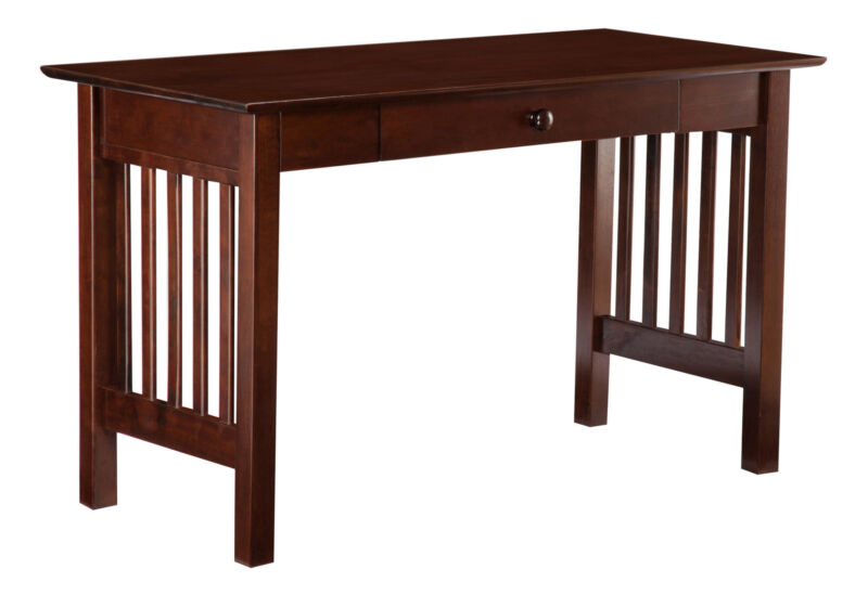 Atlantic Furniture Mission Desk with Drawer Walnut Antique Walnut
