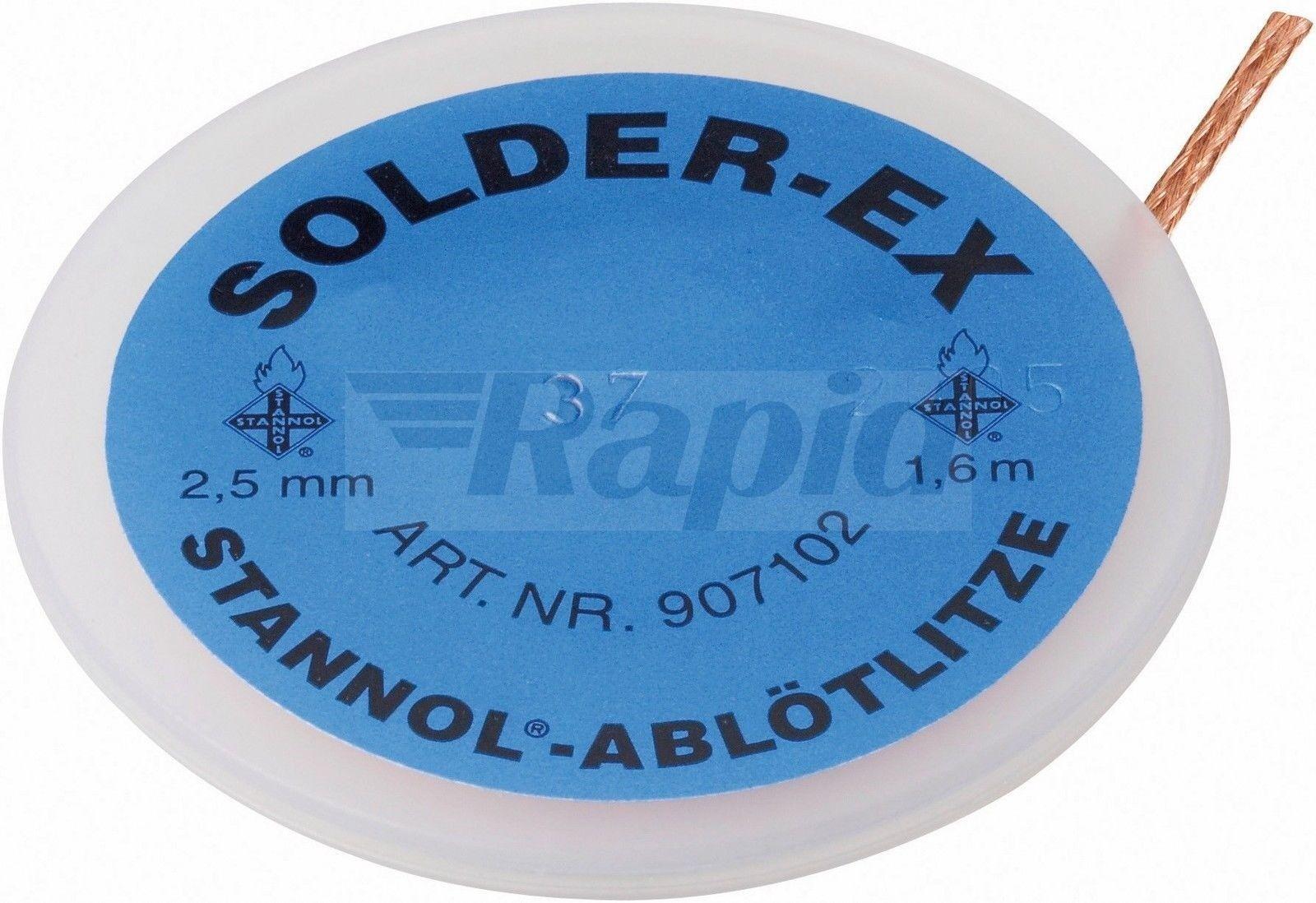 Stannol 907101 Solder-EX 2.0 mm 1.6 m