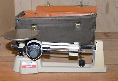 Vintage Ohaus Triple Beam Scale 2610 G Collectible Dial 0 Gram With Case Tool
