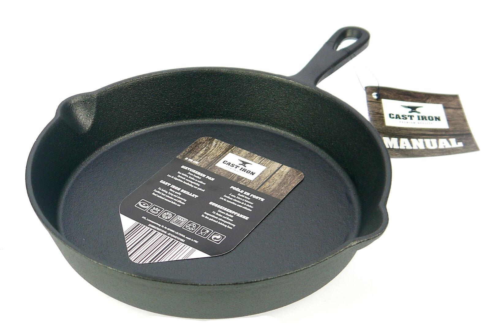 Cast Iron Gusseisen Bratpfanne Steakpfanne 15, 20 oder 25 cm