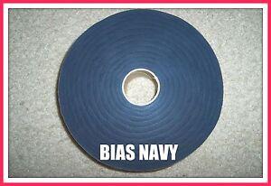 SALE NAVY BLUE ROLL BIAS FABRIC strip 1 1/2