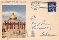 Storia Postale - Vaticano 1952 - Cartolina Postale Lire 20 - Viaggiata Catania -  - ebay.it