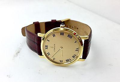 Corum 18k Gold Genuine Lizard Band Watch Fashion Vintage Jewelry Designer