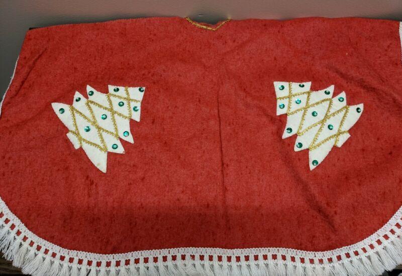 Vintage Handmade Felt Christmas Tree Skirt