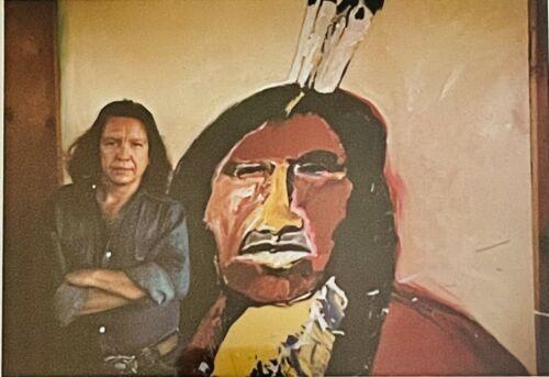 FRITZ SCHOLDER VINTAGE SHOW AD FRAMED LUISENO NATIVE AMERICAN 1970