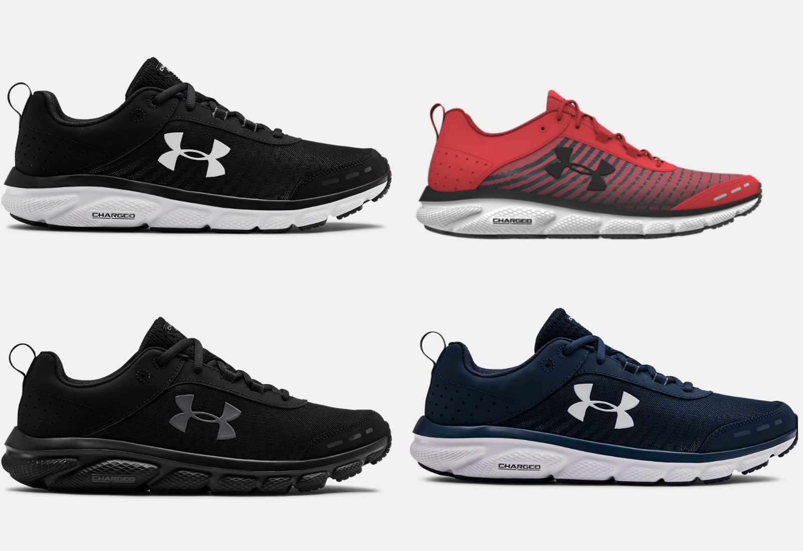 Under Armour UA Charged Assert 8 Running Training Shoes NEW