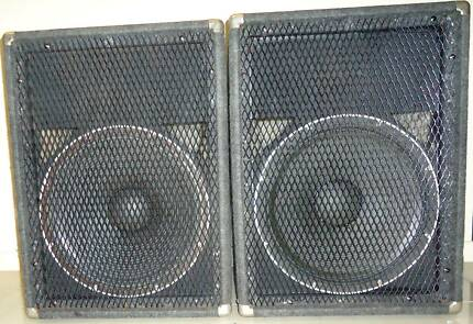 Two passive PA subwoofers with 15 inch drivers and new cables