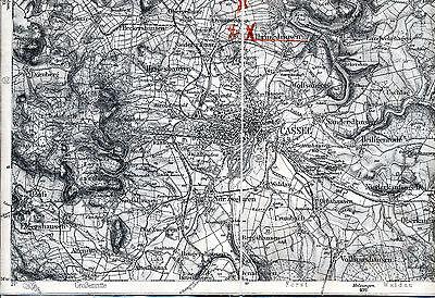 Kassel Großalmerode Oberzwehren 1912 Teilkarte/Ln. Vollmarshausen Uschlag Waldau
