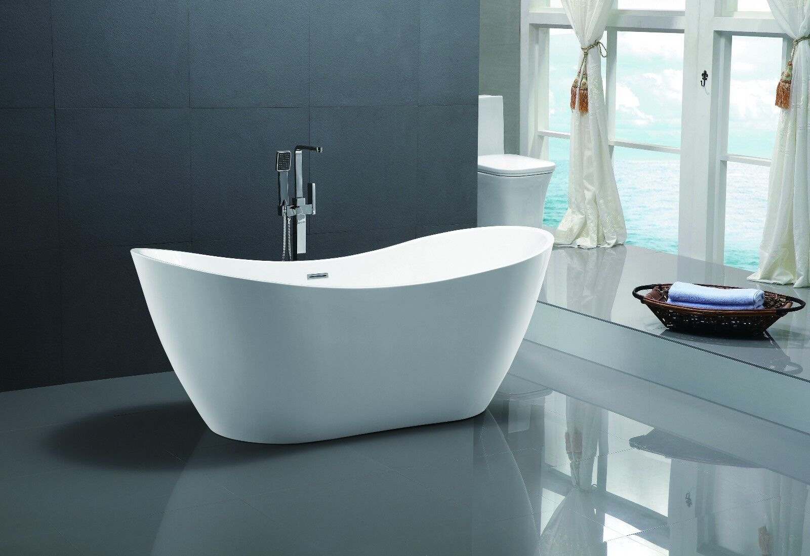 71 bathroom free standing acrylic soaking bathtub