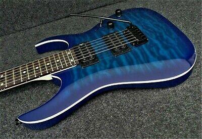 IBANEZ GRGA120QA-TBB QUILT TOP Solid Body Electric Guitar INFINITY PICKUPS
