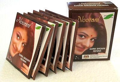 Noorani Dark Brown Henna 6 packets 10g each