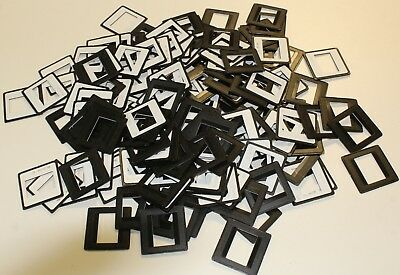 100 Stück CS-Rahmen schwarz mit Datumsstempel 24x36 5x5 KB Kleinbild Diarahmen