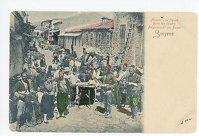 Fig Market Smyrna Smyrne Izmir Rare Antique Turkey Bazaar  1908