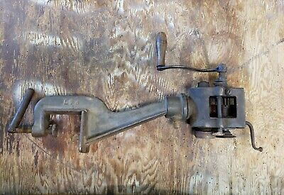 Large Burring Machine Sheet Metal Tin Smith Bead Roller Peck Stow Wilcox Co.