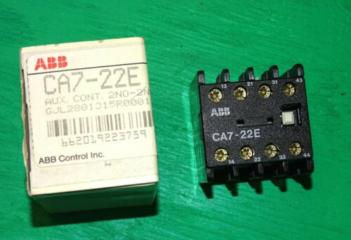 ABB controls #CA7-22E Auxiliary Contact Poles for contactor - 2NO-2NC contacts