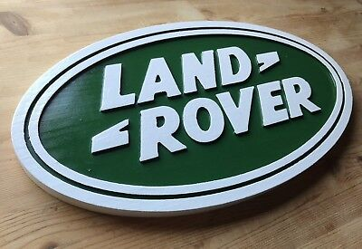 Land  Rover 3D routed carved bar garage plaue  custom wood sign Custom