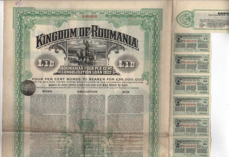 Kingdom of Roumania Bond