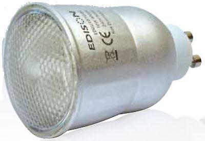 Gu10 Fluorescent Bulbs - GU10 10W 11w cfl Compact Fluorescent Silver Reflector Energy Saving Lamp Bulb