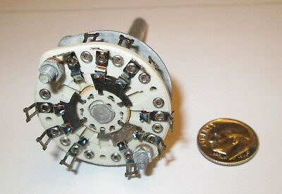 Ceramic Rotary Switch Shorting  6 Pole - 2 Positions Centralab  Nos 1 Pcs.