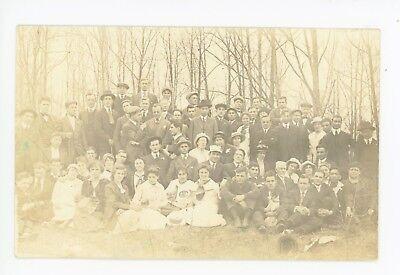 School Group Rppc American International College  Aic Springfield Ma Photo 1910S