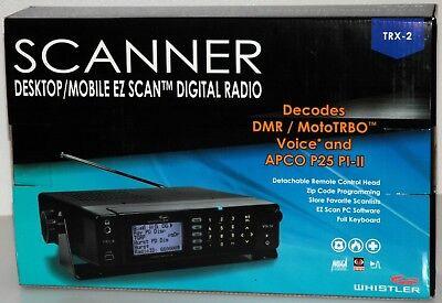 Whistler TRX-2 Digital Mobile/Desktop APCO P25 PI-II Scanner Radio BRAND NEW