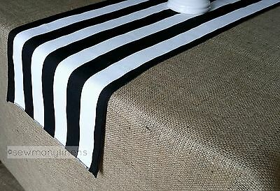 Black and White Stripe Table Runner Kitchen Home Decor Linens Table Centerpiece
