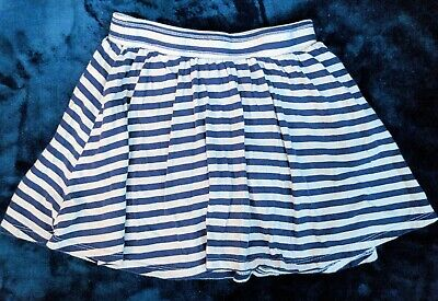 Euc Girls OLD NAVY Blue & White TStriped Skort SZ Med - Girls White Skort