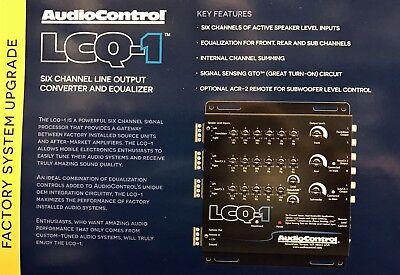 NEW Audio Control LCQ-1, 6-Channel OEM Integration Line Out Converter EQ (BLACK)