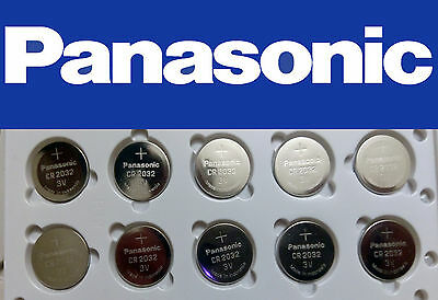 FRESH NEW 10 Pc Genuine Panasonic CR2032 Lithium Battery 3V Coin Cell Exp 2026