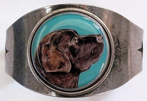 Chocolate Labrador Retriever Original Art Cuff Bracelet