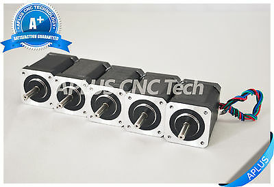 5 Pcs Nema 17 Stepper Motor 99.0oz-in 60mm 2.3a 1.8degree 4wires