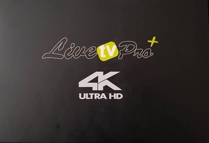 LIVE TV PRO PLUS 4K ULTRA HD TV/LIVE TV HD PRO/ REAL TV