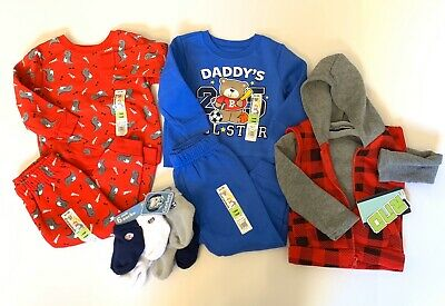 Baby Boy Toddler 18 Month 12 Pieces Clothing Sock Lot Sweater NWT New Gerber