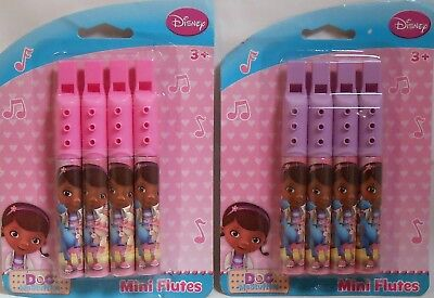 Party Favors DISNEY DOC MCSTUFFINS Mini Flutes Birthday Loot Bag Filler 4 Pk (Doc Mcstuffins Birthday Party)