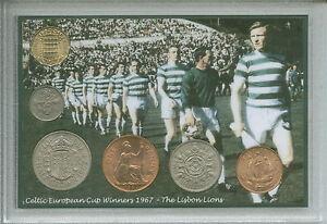 Glasgow Celtic The Lisbon Lions Vintage European Cup Retro Coin Gift Set 1967