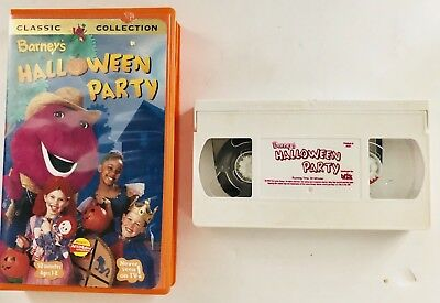 Barney - Barneys Halloween Party (VHS, 1998) Barney And Friend's Classic - Barneys Halloween Party