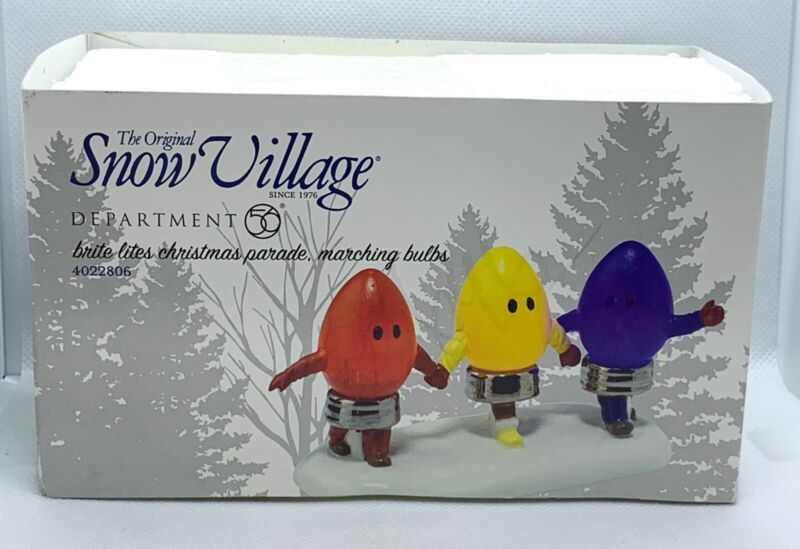 Department Dept 56 Brite Lites Christmas Parade Marching Bulbs 4022806
