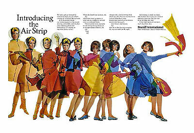 "Braniff Airways ""Air Strip"" Ad ((8.5""x11"")) Print"
