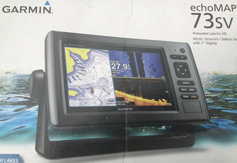 "Garmin ECHOMAP UHD 73sv 7"" Fish Finder Chartplotter (010-02338-00) Transducer"