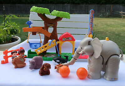 Fisher Price Little People Big Animal Zoo 100% Complete Base Set + 3 extras