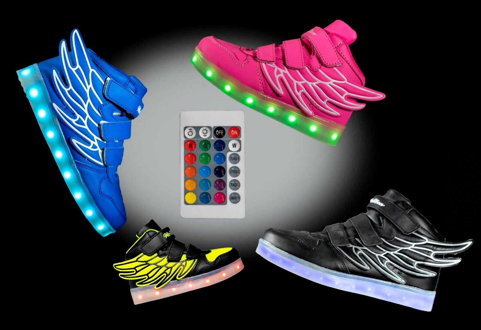 LED Light Up Shoes Sneaker Flashing for Girls Boys Kids and Youth Remote NIB Z9 Clothing, Shoes & Accessories