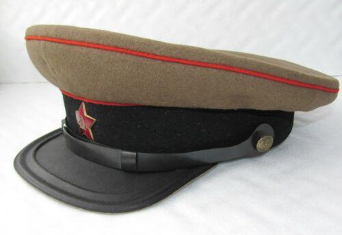 WW2 Russian Soviet tankman technical troops Officer rare visor cap M1935