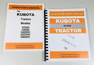 Kubota G3200 Tractor Operators Owners Manual Parts Catalog Set