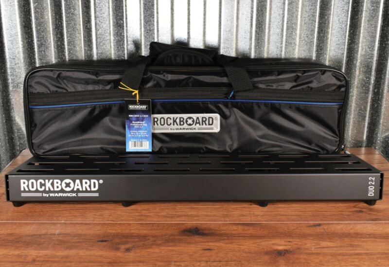 Warwick Rockboard Duo 2.2 B Guitar Effect Pedalboard & Gig Bag